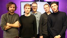 London band Palace are in session at Maida Vale Studios for Huw Stephens.