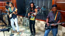 Image associated with Raging Fyah are live in session from Anchor Studios in Jamaica.
