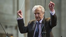 Sir Colin Davis rehearses Berlioz's Grande messe des morts at St Paul's Cathedral.