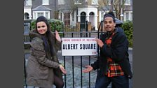 Dev On The Set Of Eastenders
