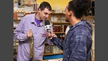 Dev and Westwood visit a charity shop