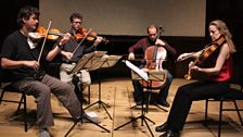 The St Lawrence String Quartet rehearse at Wigmore Hall