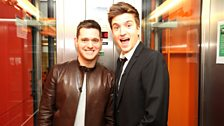 Michael Buble co-hosts with Greg