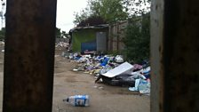 Romanian camp in north London