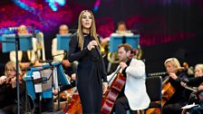 Melanie C at Last Night of the Proms Celebrations 2013