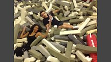 Louis Smith shows Sarah-Jane Crawford his ropes