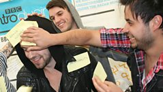 Radio 1 - 'Reading Presents' - Young Guns get sticky noted!