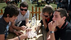 Radio 1 - 'Reading Presents' - Enter Shikari Marshmallow Game