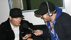Limp Bizkit backstage at Reading 2010