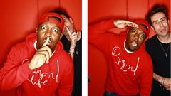 Dizzee Rascal with Nick Grimshaw on the Radio 1 Breakfast Show