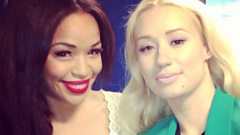 Iggy Azalea catches up with Sarah-Jane Crawford