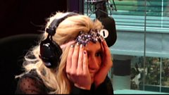 Ke$ha chats up Harry Styles and rubs glitter on Grimmy's face