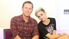 Miley Cyrus with Scott Mills on The Official Chart