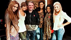 The Saturdays join Moyles in Portsmouth