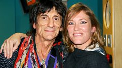 Ronnie Wood with Cerys on 6
