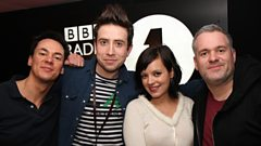 Katy B joins Chris Moyles, Dave and Nick Grimshaw