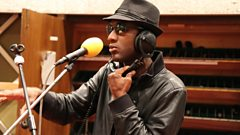 Aloe Blacc performs in the Live Lounge