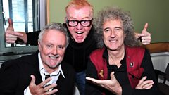 Rock Royalty Brian May and Roger Taylor from Queen talk to Chris!