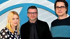 Ed Simons and Adam Smith with Lauren Laverne