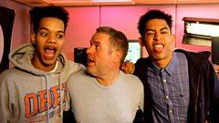 Rizzle Kicks rapping to Somerset Boy