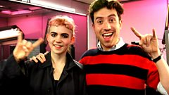 Grimes live with Nick Grimshaw