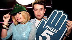 Little Boots Fresh Off Stage with Nick Grimshaw