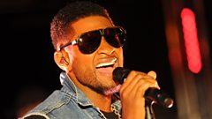 Usher chats with Sara Cox