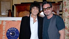 Keith Richards catches up with Huey Morgan