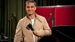Robbie Williams sings No One Likes A Fat Pop Star