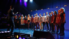 Gareth Malone and Voices - Go Your Own Way at Children in Need Rocks 2013