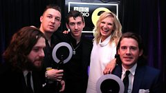 Arctic Monkeys talk to Jo Whiley at the BRITs
