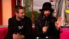 Kasabian chat to Greg James and Jen Long