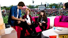 Ed Sheeran chats to Greg James and Jen Long