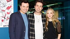 Seth MacFarlane and Amanda Seyfried talk to Grimmy