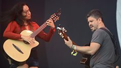 Rodrigo y Gabriela on the Pyramid stage
