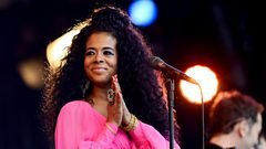 Kelis on the Pyramid stage