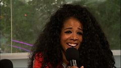 Kelis talks to Gemma Cairney at Glastonbury 2014