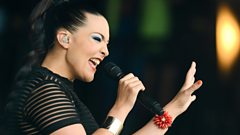 Caro Emerald on the Pyramid stage