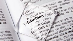 Dictionary entry of 'definition'