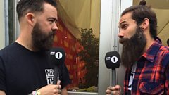 The Rock Show backstage at Reading 2014