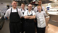 The kitchen team in Hotel 24/7