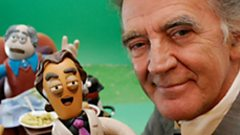 Gerry Anderson and his Flickerpix model