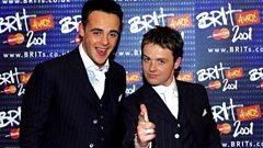 Ant and Dec at the Brits in 2001