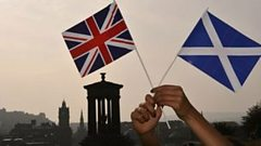 Saltire and Union Flag