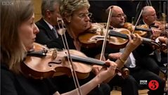 Listen to the violin section.