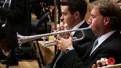 Listen to the trumpet.