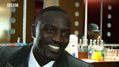 Akon interview backstage at Later