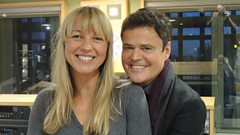 Sara Cox duets with Donny Osmond