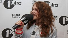 Katy B backstage at 1Xtra Live 2010