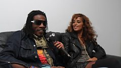 Gyptian backstage at 1Xtra Live 2010